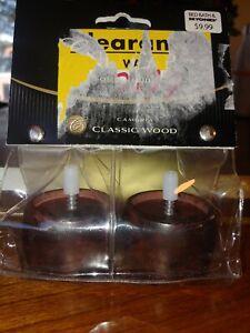 NIP Cambria Finials Solid Wood glass metal cherry medium, dark brown choose!