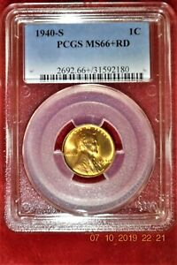1940S Lincoln Cent PCGS MS66+RD - Rare