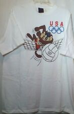 USA Olympics Team Logo T Shirt Tazmania Graphics White Hanes XL Tee