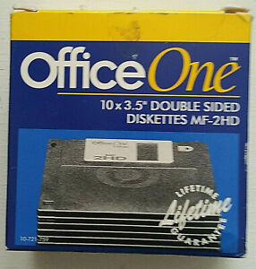 """Office One 10x3.5"""" Double Sided Diskettes MF-2HD"""