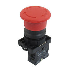 22mm NC N/c Red Mushroom Emergency Stop Push Button Switch 600v 10a SI