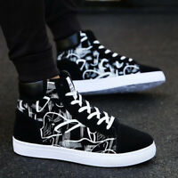 Fashion Mens Oxfords Casual High Top Shoes Lace Up Canvas Skateboard Sneakers