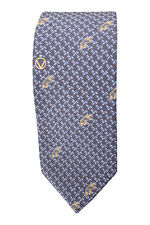 *VALENTINO* MEN'S SILK TIE BLUE BROWN DIGITAL PRINT REPEAT (56 L)
