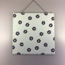 "24"" x 24"" Upholstered Push Pin Message Board with Nailhead Trim"