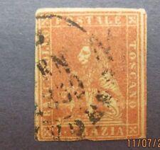 italy22,italy stamp Tuscany Scott 4a, F-VF used, Cat. $180.00
