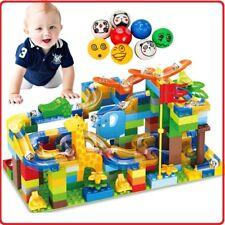 Crazy Marble Track Run Ball Toy Game Educational Kids Building Big Blocks Set