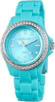 Excellanc Damenuhr Blau Kunststoff Strass Analog Quarz Armbanduhr X225183500003