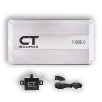 CT Sounds Car Audio Amplifier Monoblock T-1000.1D Amp 1000w RMS Class D Power