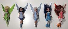 """Lot of 5 Disney 2012 Jakks 5"""" Fairy Dolls With Figure Skates"""