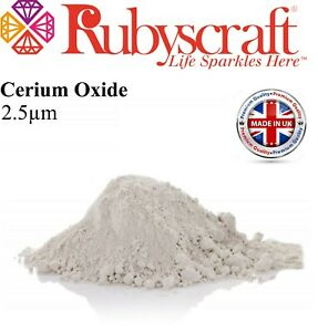 CERIUM OXIDE ~FASTER POLISHING~GLASS POLISHING~SCRATCH REMOVER 2.5μ 25g WHITE