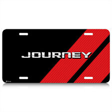 Dodge Journey Carbon Fiber Look Red Stripes Graphic Aluminum License Plate
