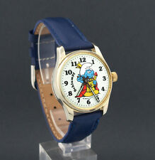 Vintage German King Smurf Schlumpf wind-up Character Watch