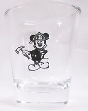 Mickey Mouse Firefighter Image on Clear Shot Glass