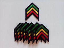 "10 RASTA Shoulder (RYG) Embroidered Patches 3"" x 2.5"" iron-on"