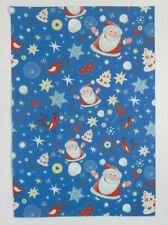 Lindo Diseño De Navidad Azul-venta Hoja De Fieltro (20 X 29cm)