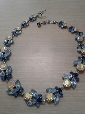 """austria signed necklace, rhinestones, great condition,  16"""" +1"""" extension"""