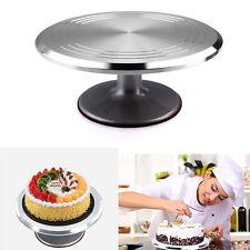 "Rotating Revolving Cake Turntable Aluminium Cake 12"" Decorating Stand Baking"