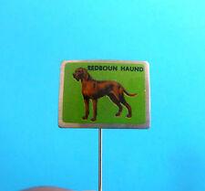 Redbone Coonhound - vintage pin badge anstecknadel distintivo * dog breed