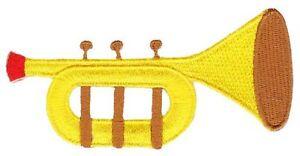Bg25 Trumpet Instrument Sew-On Iron Application Music Jazz Blues Children