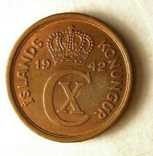 1942 ICELAND EYRIR - Excellent Coin - FREE SHIPPING - Iceland Bin A