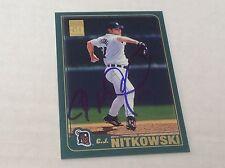 2001 Topps 231 C.J. CJ Nitkowski Tigers Autographed Auto Signed Card