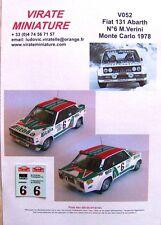 "V052 FIAT 131 ABARTH RALLYE MONTE CARLO 1978 ""ALITALIA"" N°6 MAURO VERINI VIRATE"