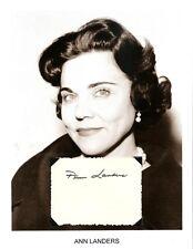 Ask Ann Landers Autograph Newspaper Columnist Chicago Times Esther Lederer #2