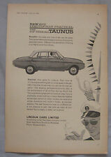 1961 Lincoln Taunus Original advert No.2