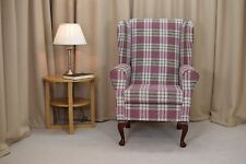Wing Back Fireside Armchair in a Kintyre Heather Fabric