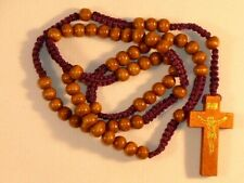 Wood Rosary ~ Corded ~ 6 mm Round Beads ~ Italian Made