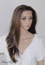 Handsewn Perruque FULL LACE FRONT Feather Wig 9136#4F27