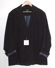 NWT Eskandar Sz 2 Elegant BROWN Corduroy Boxy Rich Cotton Cashmere Blazer Jacket