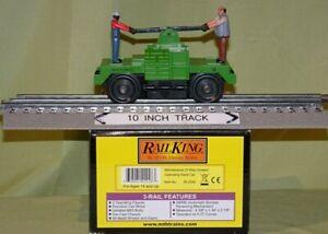 "MTH 30-2526 Green #2 MOW ""Bump-N-Go"" Hand Car (Red Shirt) O/027 2001 wks/ Lionel"