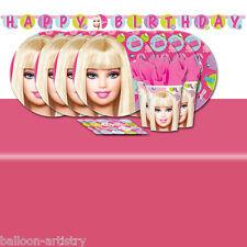 Poupée barbie fashion children's birthday party vaisselle Pack Pour 8
