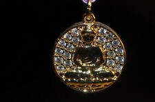 14mm Excellent Quality~18K Gold Plated BUDDHA CZ Micropavé Disc Charm E1112