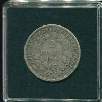 1895 A (Large A) FRANCE 2 FRANCS CERES   SILVER VF+ FR1074.21