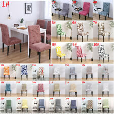 1/4/6Pcs Removable Floral Dining Room Chair Cover Wedding Stretch Seat Cover Lot