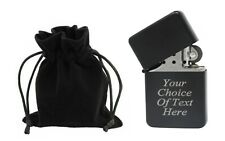 Engraved Personalised Black Star Lighter Ideal Wedding Present + Gift Pouch