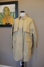 NWT J Crew Cotton Twill Swing Trench Coat Khaki Sz 8 Medium A1635 $248