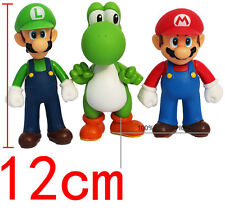 Super Mario Figure Mario Bros Action Figures 3 Pcs Set Doll Toys Collection 12cm