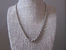 """Vintage 1980's 18"""" Long Sterling Silver And Vermeil Heavy Rope Chain"""