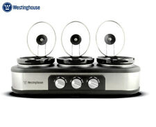 Westinghouse 3-Pot Slow Cooker - Stainless Steel