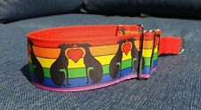 One love rainbow Design 50mm reduced martingale collar
