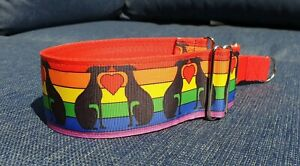 One love rainbow Design 40mm reduced martingale collar