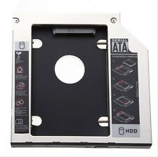 SATA 2nd HDD SSD Caddy Bay for Laptops 9.5mm Optical Hard Drive + Screws + bazel