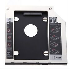 SATA 2nd HDD SSD caddy adapter for Laptops 9.5mm Optical Hard Drive Bay new