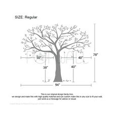 Extra Large Memory Tree Big Family Photo tree wall decal Brown Special Price