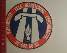 Autocollant/sticker: rijkswacht TELE DISPATCHING gendarmerie (020117153)