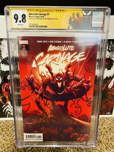 Absolute Carnage #1 Signed Donny Cates Ryan Stegman CGC 9.8