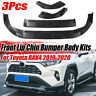 For Toyota RAV4 2019 2020 Matte Black Front Bumper Lip Chin Kit Spoiler Splitter